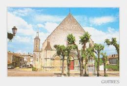 Gironde        H329        GUITRES.Abbatiale Notre Dame Romaine Et Gothique - France