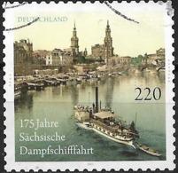 GERMANY 2011 175th Anniversary Of Saxon Steamship Company - 220c Paddle-steamer FU - [7] Federal Republic