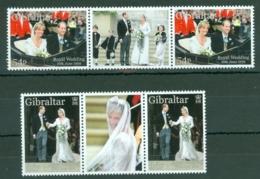 Gibraltar: 1999   Royal Wedding   MNH Gutter Pairs - Gibilterra
