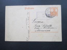 DR 1919 Ganzsache 7.2.19 Germania Stempel Oldenburg (Grhzgt) Mit Zensurstempel US Censor Nach Neuwied - Briefe U. Dokumente