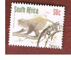 SUD AFRICA (SOUTH AFRICA) - SG 1017 - 1997 ENDANGERED ANIMALS: SAMANGO MONKEY  - USED - Usati