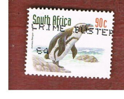 SUD AFRICA (SOUTH AFRICA) - SG 1021 - 1997 ENDANGERED ANIMALS: JACKASS PENGUIN - USED - Usati