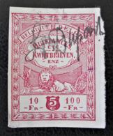 TIMBRE FISCAL 1911 - PH BEL001 - NON-DENTELE - Timbres