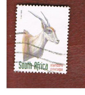 SUD AFRICA (SOUTH AFRICA) - SG 1030 - 1998 ENDANGERED ANIMALS: ELAND - USED - Usati