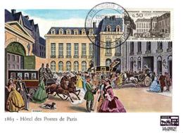Carte Maxi Paris Hôtel Des Postes-n° 1387-08.05.1963- - Cartoline Maximum