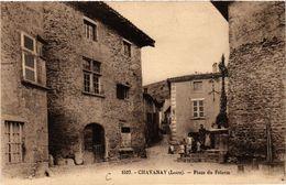 CPA CHAVANAY - Place Du Pélerin (510094) - Otros Municipios