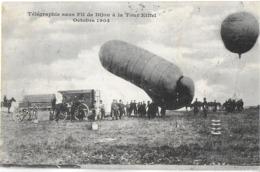 AÉROSTAT BALLON  TÉLÉGRAPHIE SANS FIL DE DIJON A LA TOUR EIFFEL OCTOBRE 1904 - Dijon