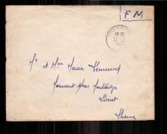 Enveloppe En Franchise Militaire Du 22 Mai 1958, D'Alger Pour Montargis - Storia Postale