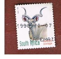 SUD AFRICA (SOUTH AFRICA) - SG 1076 - 1998 ENDANGERED ANIMALS: KUDU  (SELF-ADHESIVE) - USED - Usati