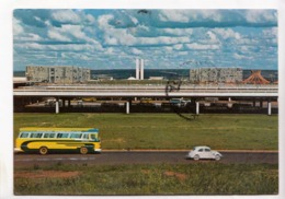 BRASIL TURISTICO, Brasilia, Vista Panoramica Da Cidade, Panoramic View Of The City, 1969 Used Postcard [23500] - Brasilia