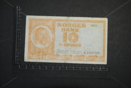 Billet, NORVEGE, 1973 Norges Bank 10 Kroner Christian Michelsen R.1907391 Norway Banknote - Norvegia