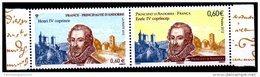 2012 FRANKREICH - ANDORRA PAAR GEMEINSCHAFTSAUSGABE HENRI IV COPRINCE POSTFRISCH** Aufl. 35000 - France