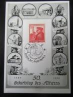 "Postkarte Propaganda ""Geburtstag Des Führers"" 1939 Stempel Eger - Briefe U. Dokumente"