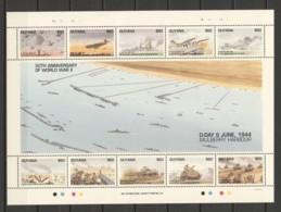 Guyana 1994 Kleinbogen Mi 4668-4677 MNH WW2 D-DAY - AIRCRAFT SHIPS & TANKS - WW2