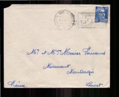 Enveloppe En Franchise Militaire Du 8 Juillet 1954 Pour Montargis - Storia Postale