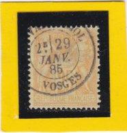 SAGE N°92   Bistre Orange Sur Jaune  CACHET VAL D'AJOL - VOSGES     29 JANV. 1885- LOT 519 - 1876-1898 Sage (Type II)