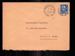 Enveloppe  En Franchise Militaire Du 13 Mars 1952 Pour Paris - Storia Postale