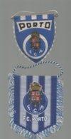 FANION LOT 2 FANIONS FOOT FOOTBALL FC PORTO 12 X 9 CMS ET 10 X 8.5 CMS - Non Classés