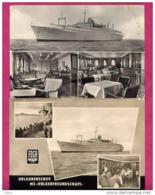 VOLKERFREUNDSCHAFT - 2 CARTES AVEC CACHETS POSTAUX DU PAQUEBOT+ HISTORIQUE - Passagiersschepen
