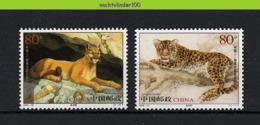 Nff006 FAUNA WILDE KAT ROOFKAT ZOOGDIEREN PUMA PANTHER WILD CAT MAMMALS KATZEN FELINS CHINA 2005 PF/MNH - Big Cats (cats Of Prey)