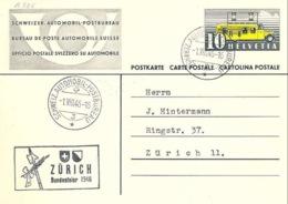 Schweiz Suisse 1946: Autopost-Karte Mit O AUTOMOBILPOSTBUREAU 1.VIII.46 ZÜRICH Bundesfeier 1946 - Lettres & Documents