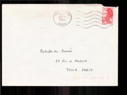 Enveloppe Du 26 Mars 1984 De Lyon Pour Paris - Marcophilie (Lettres)