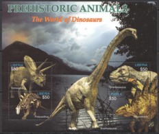W962 LIBERIA FAUNA PREHISTORIC ANIMALS REPTILES WORLD OF THE DINOSAURS 1KB MNH - Stamps