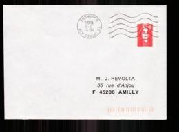 Enveloppe Du 7 Août 1996 De Istres Pour Amilly - Marcophilie (Lettres)