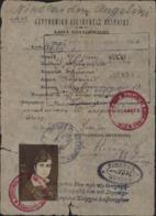 Laissez Passer Voyage Athènes Pour Crète Avec Visa Contrôle Interalliés Des Passeports Athènes 4 7 18 Guerre 14 - Guerre De 1914-18