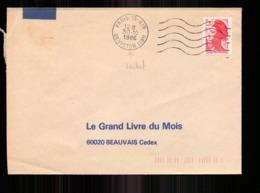Enveloppe Du 30 Octobre 1986 De Paris Pour Beauvais - Marcophilie (Lettres)