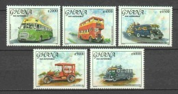 Ghana 2005 Mi 3759-3763 MNH CARS & BUSES - Bussen