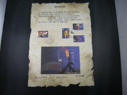 "BELG.2004 3303/3305 & BL114 FDC "" Athénes 2004 ""Oorkonde / Certificat :with Signature ELS VANDEVYVERE - 2001-10"