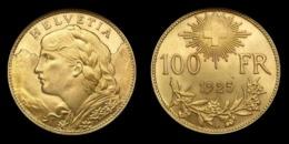 COPIE - 1 Pièce Plaquée OR ( GOLD Plated Coin ) - Suisse 100 Francs Vreneli 1925 B - Suisse