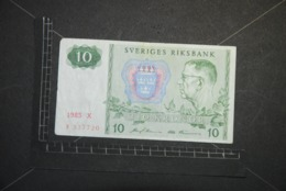 Billet, SUEDE, 10 Kronor  1985 + 1987  (Lot De 2 Billets / 2 Banknotes) - Suède