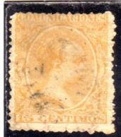 SPAIN  ESPAÑA  SPAGNA 1889 1899 OFFICIAL STAMPS KING ALFONSO XII CENT. 15c USED USATO OBLITERE' - 1889-1931 Regno: Alfonso XIII