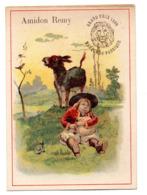 Chromo Amidon Remy Tête Lion Gaillon Eure Breton Costume Chapeau Musicien Cornemuse Instrument Hurlement âne Animal - Kaufmanns- Und Zigarettenbilder