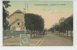 CROISSY SUR SEINE - Boulevard De La Mairie (belle Carte Toilée ) - Croissy-sur-Seine