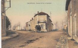 CPA 55 TRONVILLE ROUTES DE BAR ET GUERPONT Couleur - France