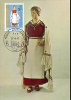47210 Finland, Maximum 1981, Costume Trachten, - Maximum Cards & Covers