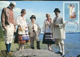 47213 Finland, Maximum 1981, Costume Trachten, - Maximum Cards & Covers