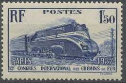 """13e Congrès International Des Chemins De Fer, à Paris. """"Pacific"""" Carénée. 1f.50 Outremer Neuf Luxe ** Y340 - France"""
