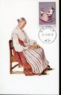 47214 Finland, Maximum 1986, Costume Trachten, - Maximum Cards & Covers
