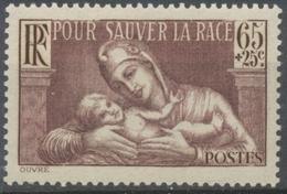Au Profit De La Société De Prophylaxie Sanitaire Et Morale. 65c. + 25c. Brun-lilas Neuf Luxe ** Y356 - France