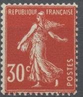 Type Semeuse Fond Plein, Inscriptions Grasses, Type IIA. 30c. Rouge Sombre Neuf Luxe ** Y360 - Nuovi