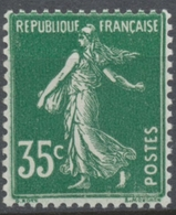 Type Semeuse Fond Plein, Inscriptions Grasses, Type II. 35c. Vert Neuf Luxe ** Y361 - Nuovi