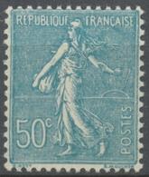 Type Semeuse Lignée. 50c. Turquoise Neuf Luxe ** Y362 - Nuovi