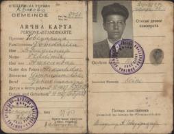 Occupation Allemande Guerre 39 45 World War II Carte D'identité Serbe Serbie - Serbie