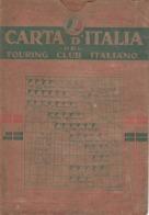 9514-CARTA D'ITALIA DEL TOURING CLUB ITALIANO-BARI-1939 - Carte Geographique