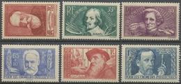 Au Profit Des Chômeurs Intellectuels. Types De 1936-37. N°380 à 385 Neuf Luxe ** Y385S - Nuovi