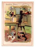 Chromo Amidon Remy Tête Lion Gaillon Eure Bêtise Chat Chaton Animal Cuisine Cusinier Marmiton Saucier Cuisinière Métier - Kaufmanns- Und Zigarettenbilder